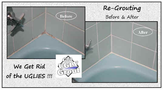 Got UGLY GROUT? We Get Rid Of The UGLIES!
